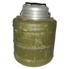 Vintage Stoneware Lined Water Thermos