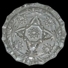 Vintage Anchor Hocking Early American Pressed Glass Ashtray