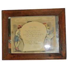 Vintage Framed Greeting Card by Cliff Knoble