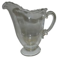 Vintage Fostoria Glass Century Footed Milk Pitcher