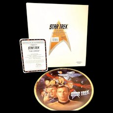 Vintage Enesco Star Trek Limited Edition Collector's Plate