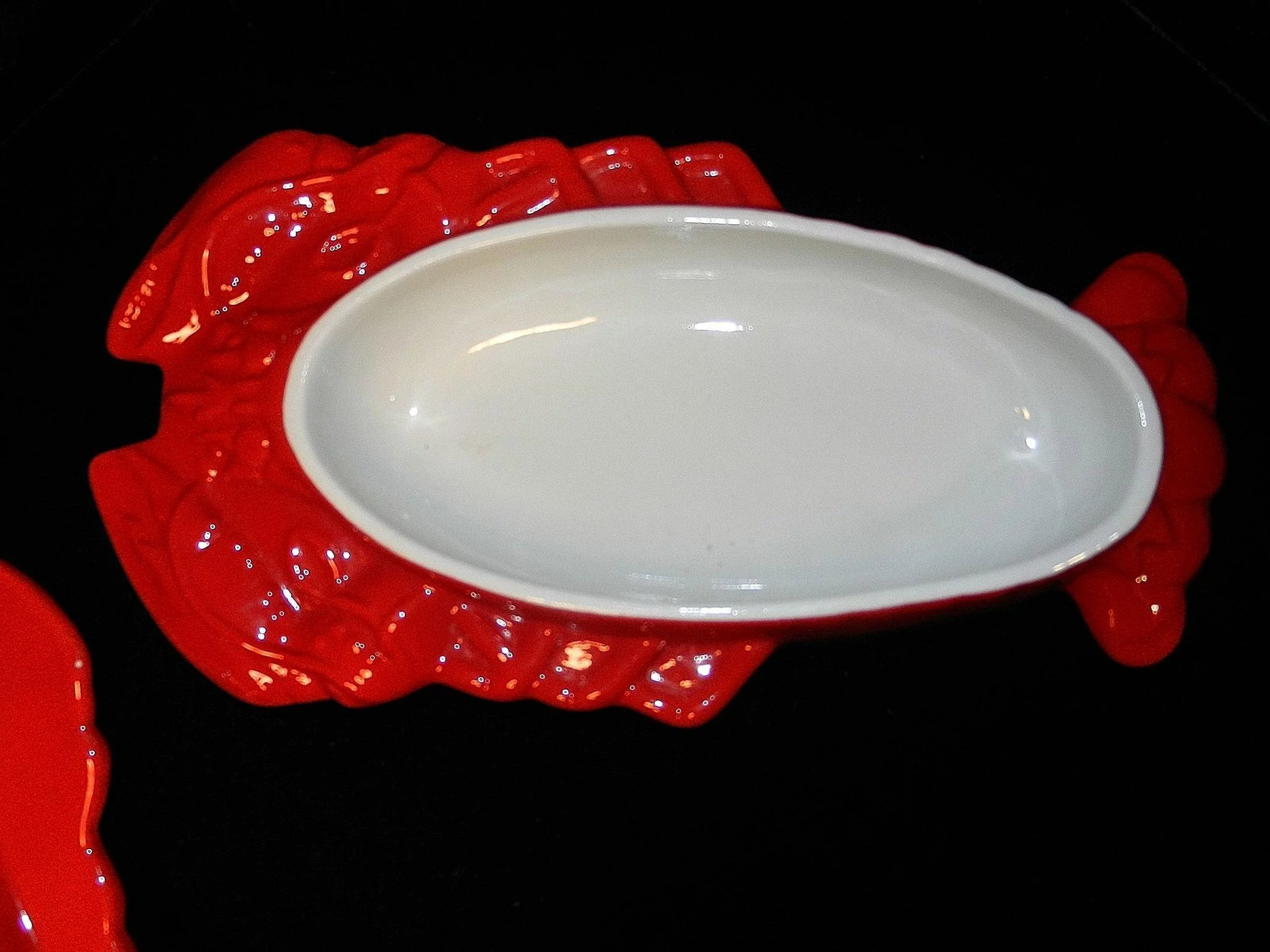 Vintage Hall China Lobster Dish Chinese Red Seafood Au ...