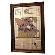 Vintage Canada Dry Ginger Ale Advertising Mirror
