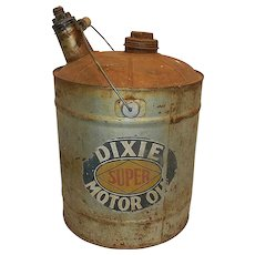 Vintage Dixie Motor Oil Can - Red Tag Sale Item