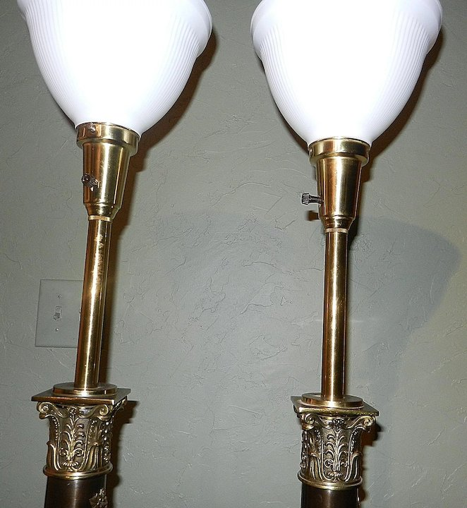 Vintage stiffel neoclassical brass table lamps my grandmother had vintage stiffel neoclassical brass table lamps aloadofball Gallery