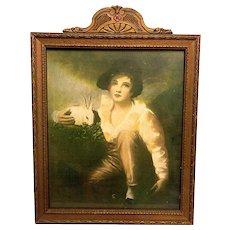 Vintage Henry Raeburn Lithograph and Frame - Red Tag Sale Item