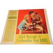 Vintage 1970 Girl Scout Calendar