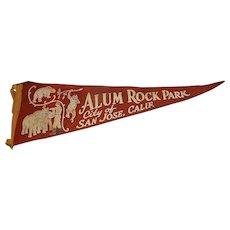 Vintage H.H. Tammen Company Alum Rock Park, San Jose, California Travel Pennant