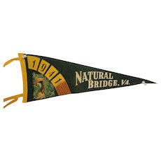 Vintage H.H. Tammen Company Natural Bridge, Virginia Travel Pennant