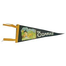 Vintage H.H. Tammen Company Ozarks Travel Pennant