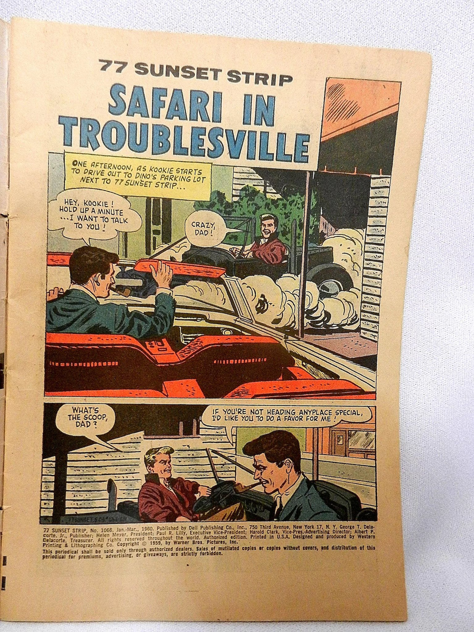 Vintage Silver Age 77 Sunset Strip Comic Book My