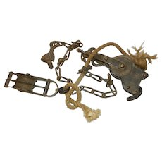 Vintage Hall Manufacturing Block and Tackle-