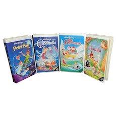 Vintage Walt Disney Black Diamond Classics VHS Tapes