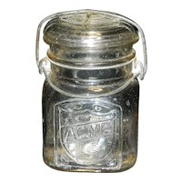 Vintage Acme Glass Company Pint Canning Jar
