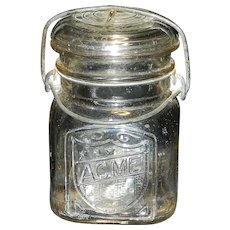 Vintage Acme Glass Company Pint Canning Jar
