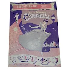 Vintage Walt Disney Music Company Sheet Music