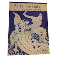 Vintage Sheet Music for Nursery Rhyme Peter Cottontail