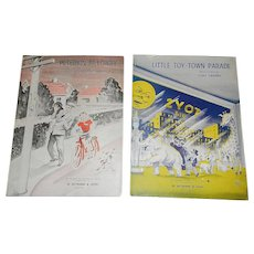 Vintage Sheet Music for Little Toy-Town Parade and Peterkin Pilowby