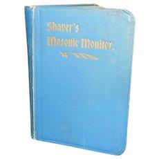 Vintage Shaver's Thirteenth Edition Masonic Monitor Book - Red Tag Sale Item