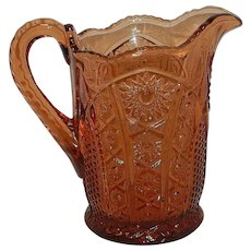 Vintage McKee Concord Pattern Glass Pitcher