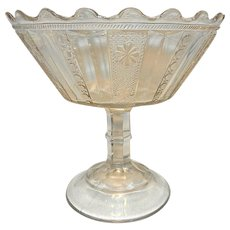 Vintage EAPG Footed Compote