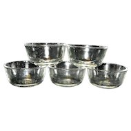 Vintage Fire King Clear Dessert or Custard Dishes
