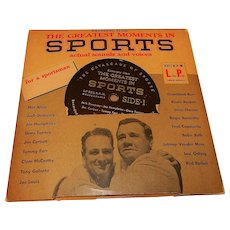 Vintage Greatest Moments in Sports 1955 33rpm LP Record