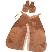 Vintage Keyston Brothers Lassoem' Bill Children's Leather Vest and Chaps