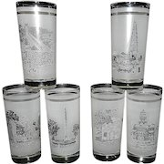 Vintage Texas Sesquicentennial Tumblers or High Ball Glasses