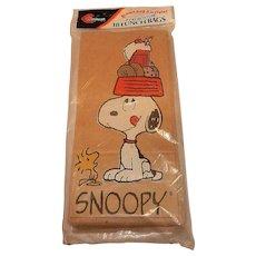 Vintage Snoopy Paper Lunch Sacks