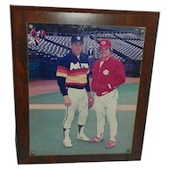 Vintage 1980's Autographed Photograph of Nolan Ryan and Pete Rose