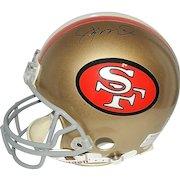 Vintage NFL San Francisco 49's Joe Montana Autographed Football Helmet