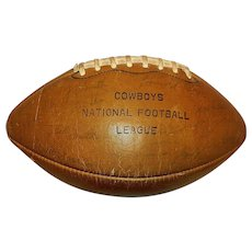 Vintage 1966 Dallas Cowboys Player Autographed National Football League Wilson Football