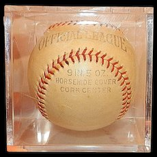"Vintage Natwick Harwood Official League Maueul ""Butch"" Onis Signed Baseball"