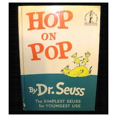 Vintage Dr. Seuss Children's Hardcover Book Hop on Pop