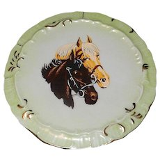 Vintage 1977 Oaklawn Park Horse Racing Porcelain Commemorative Plate