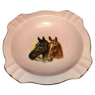 Vintage 1978 Oaklawn Park Horse Racing Porcelain Commemorative Ashtray