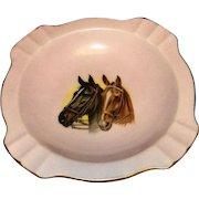 Vintage 1978 Oaklawn Park Horse Racing Porcelain Commemorative Ashtray