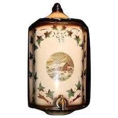 """Vintage Ceramic Currier & Ives """"Home in the Wilderness"""" Lavabo"""