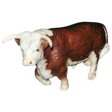 Vintage Breyer Horned Walking Horned Hereford Bull #71