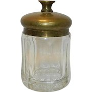 Vintage Brass & Glass Tobacco Humidor