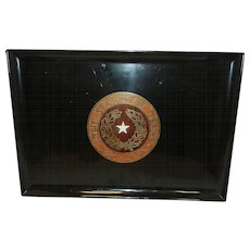 Vintage Couroc State of Texas Service Tray