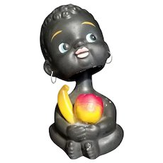 Vintage Black Americana Novelty Nodding Ceramic Coin Bank