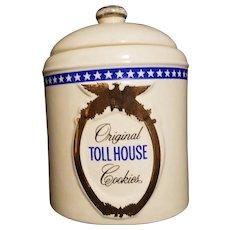 Vintage Original Nestle' Toll House Cookie Jar