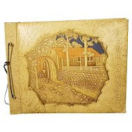 Vintage Hand Tooled Faux Leather Photograph Album