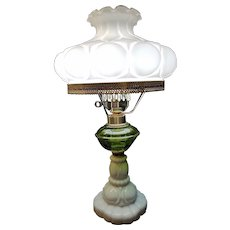 Vintage Electric Hurricane Style Table Lamp