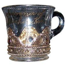 Vintage EAPG Souvenir Glass Cup of Wichita, Kansas