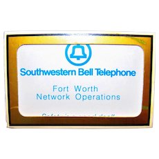 Vintage Southwestern Bell Telephone Advertising Playing Cards