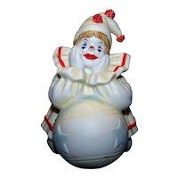 Vintage Pom Pom Clown Porcelain Figurine By  Faith Wick
