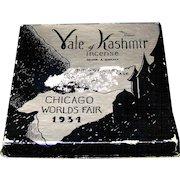 Vintage 1934 Chicago World's Fair Vale of Kashmir Incense